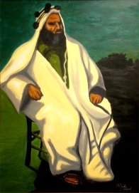 "Ras Alula: Acrylic on Canvas: 48""x30"" 2008"