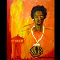 "Untitiled, Acrylic on canvas, 24""x40"" 2010"