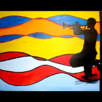 "New Orleans, Acrylic on canvas, 60""x48"" 2007"