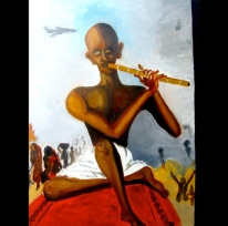"""Peace Maker, Oil on wood panel, 16""""x24"""" 2006"""