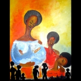 "New Orleans, Acrylic on canvas, 24""x48"" 2007"