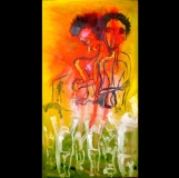 """Vilgilant Justice, oil on wood panel, 24""""x40"""" 2006"""