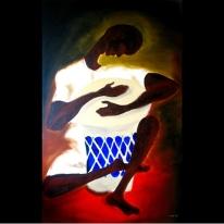 """Dreamer, Acrylic on canvas, 30""""x48"""" 2005"""