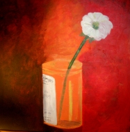 "Cured: Acrylic on Canvas: 16""x16"" 2008"