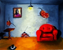 "Evicted: oil on canvas, 10""x8"" 2005"