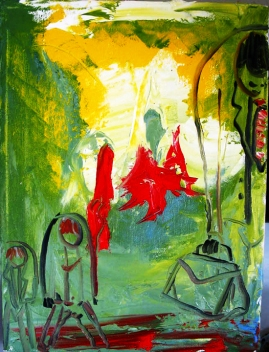 "Monday Morning: oil on Canvas: 8""x10"" 2005 SOLD"