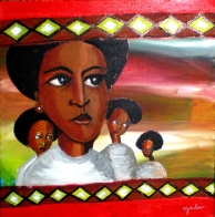 "Mamma Africa: Acrylic on Canvas: 16""x12"" 2010"