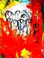 """Poworshippers: Acrylic on Canvas: 8""""x10"""" 2006"""