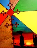 "Selassie: Acrylic on Canvas 16""x24"" 2009"