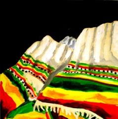 "Yehewan Netella: Acrylic On Canvas 14"" x 14"" : 2011"